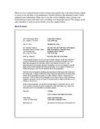 Business Letter Template Closing Personal Business Letter Format Block Style Sample Templates