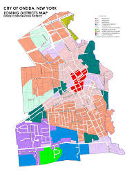 New York City Council District Map by City Of Oneida Zoning Regulations