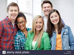 classmates search of happy high school students or classmates stock photo