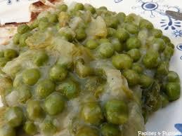 cuisiner des petits pois petits pois braisés aux oignons nouveaux et à la salade façon