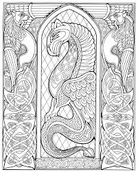 free coloring pages of celtic animal frames pinterest celtic