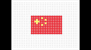 Chineses Flag Hama Bead Chinese Flag Flag Series 2 3 Youtube
