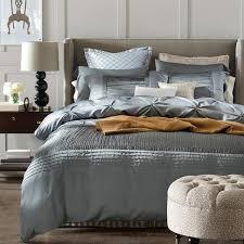 Silver Duvet Cover Luxury Silver Grey Bedding Sets Designer Silk Sheets Bedspreads