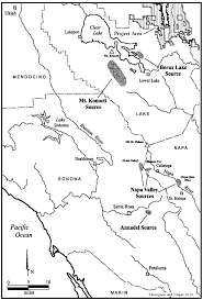 Annadel State Park Map by Trails Tribelets And Territories The Ethnographic Prehistoric