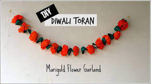 Decorative Garlands Home Diy Toran For Diwali Marigold Flower Garland Diwali Decoration