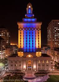sf city hall lights city of oakland boasts support of warriors during playoffs inside
