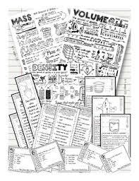 density mass volume density sketch notes by kate u0027s classroom cafe