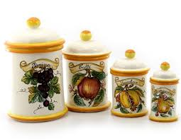 Tuscan Canisters Kitchen by Italian Ceramic Canisters Italian Ceramics Deruta