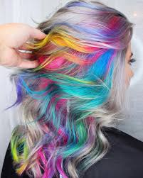 how to add colour chunks to hairstyles 28 cool rainbow hair color ideas trending for 2018