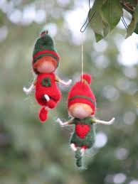 needle felted waldorf inspired christmas gnome u0027s ornament 24 00