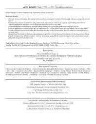 elementary resume template elementary education resume resume badak