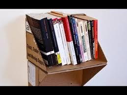 cara membuat lemari buku dari kardus bekas ide kreatif membuat rak dari kardus bekas untuk dekorasi ruangan