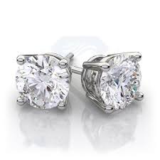 white gold diamond earrings diamond stud earrings in 14k white gold 46 ctw vs h i