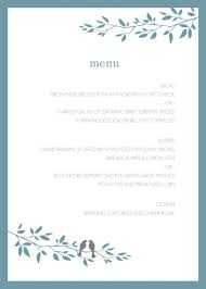 wedding menu templates templates bridal shower templates for microsoft word with rustic