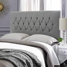 Grey Upholstered Headboard Humble Haute Hudson Textured Grey Upholstered Headboard Full