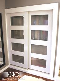 How To Build A Sliding Closet Door Exceptional How To Build Sliding Closet Doors 1 White