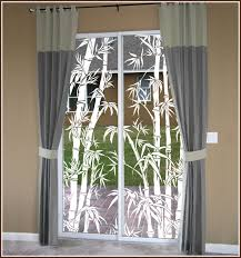 Shower Curtain See Through Tropical Etched Glass Window Film Design Big Bamboo See Thru