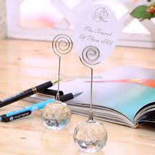 table top place card holders wedding favor crystal ball place card holders wedding table