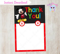 mickey mouse thank you cards mickey mouse thank you card blank mickey mouse by cutepixels