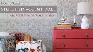 Master Bedroom Ideas With Wallpaper Accent Wall How To Stencil 101 Painting An Accent Wall With Wall Stencils And