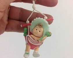 baby keepsake ornaments vintage babys christmas ornament etsy