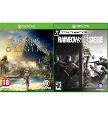 microsoft siege microsoft xbox one s 1tb assassin s creed origins rainbow six