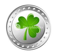 green shamrock silver coin royalty free stock image storyblocks