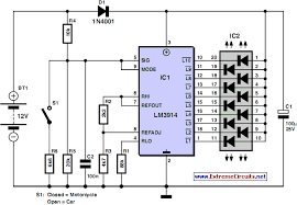 how to build car and motorcycle battery tester circuit diagram