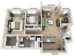 2 Bedroom Houses 2 Bedroom House Plans Designs 3d Small House House Design Ideas