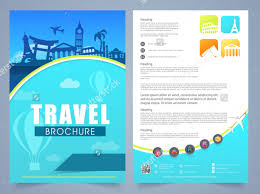 sided tri fold brochure template vacation brochure templates travel brochure templates sided