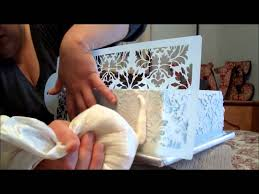 Where To Buy A Cake Box Damask Stenciling In Buttercream Tutorial Youtube