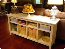 hemnes sofa table from ikea i think the two larger branas basket