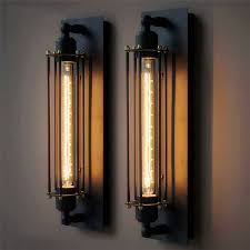 Metal Wall Sconces Vintage Black Wall Lamp T300 Edison Bulb Lamp Industrial Rustic