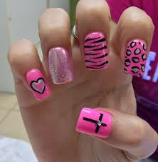 every nail except for the heart nails pinterest pink