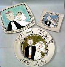 personalized anniversary plates bliss wedding plate personalized with name and color for wedding