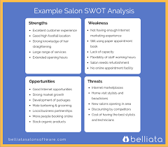 use this example salon swot analysis to help you define your salon