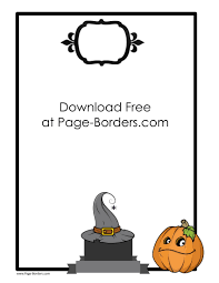 Halloween Picture Borders by Halloween Border Clip Art