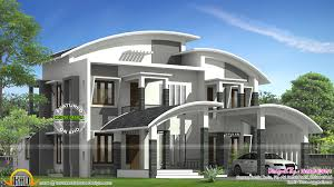 curved roof house plan kerala home design and floor plans best