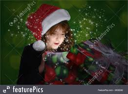 holidays christmas gift full of surprise stock picture i3038249