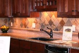 deposit classic cherry wood kitchen with tile floor travertine