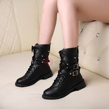 lace up moto boots black rivets lace up women s motorcycle boots tidebuy com