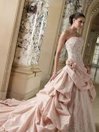 pink lace wedding dress pink wedding dresses