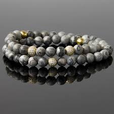 bead bracelet stone images Online shop blue ocean sediments energy stone beads cz beaded jpg