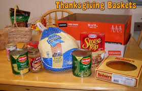 thanksgiving basket service project st anthony faith formation