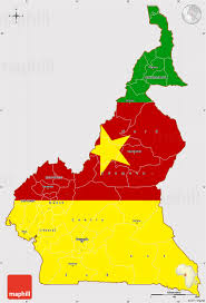 map of cameroon flag simple map of cameroon flag aligned to the middle