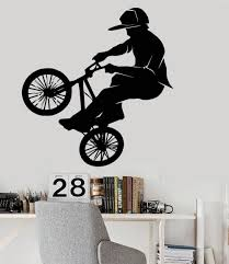 online buy wholesale bicycle wall decal from china free shiping diy wallpaper fashion vinyl pvc wall decal bicycle bike bmx sport extreme sticker