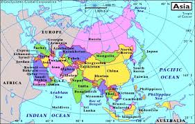africa e asia mappa map of asia with capitals major tourist attractions maps