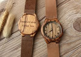 engraved anniversary gifts real wood watches engraved mens customized gift for