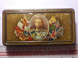 old ww1 1915 kings gift to troops rowntrees chocolate vesta tin