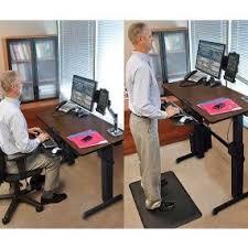 amazon com ergotron workfit d sit stand desk walnut computers